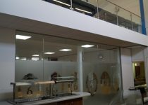 Mezzanine floor installation provides extra space for this 6th form canteen